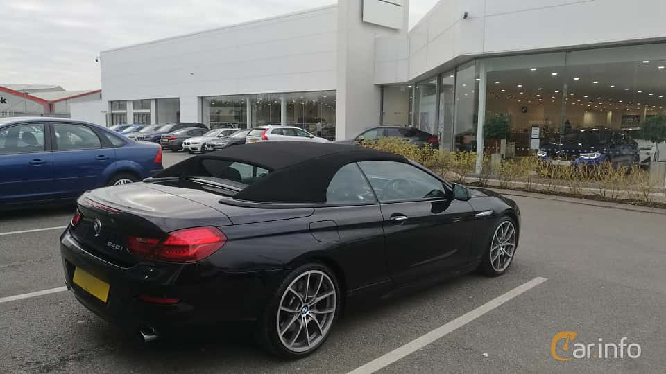 Back/Side of BMW 640i Convertible  Steptronic, 320ps, 2011