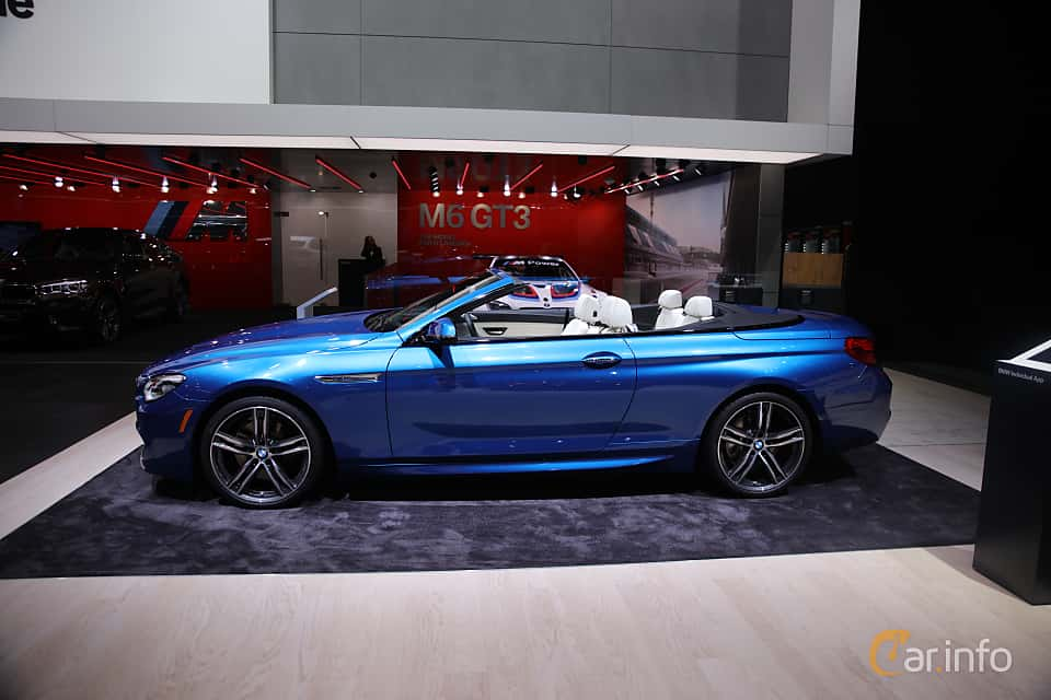 Sida av BMW 650i xDrive Convertible 4.4 V8 xDrive Steptronic, 450ps, 2017 på North American International Auto Show 2017