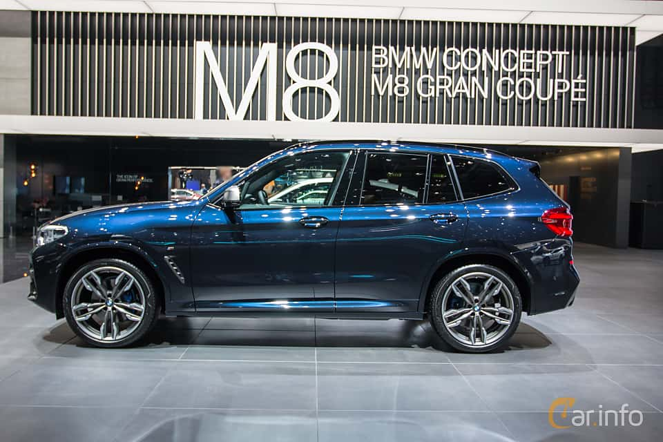Side  of BMW X3 M40i  Steptronic, 360ps, 2018 at Geneva Motor Show 2018