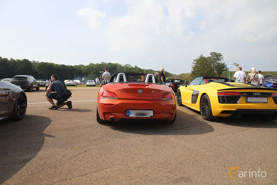Back of BMW Z4 sDrive35is  DCT, 340ps, 2015 at Autoropa Racing day Knutstorp 2019
