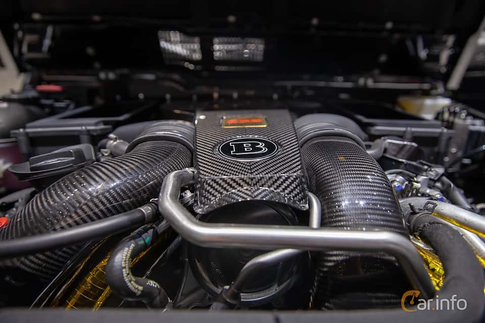 Engine compartment  of Brabus G 850  AMG-SpeedShift Plus 7G-Tronic, 850ps, 2019 at Geneva Motor Show 2019