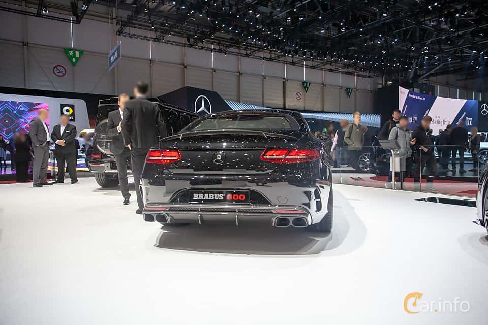Back/Side of Brabus S 800 Coupé  , 800ps, 2019 at Geneva Motor Show 2019