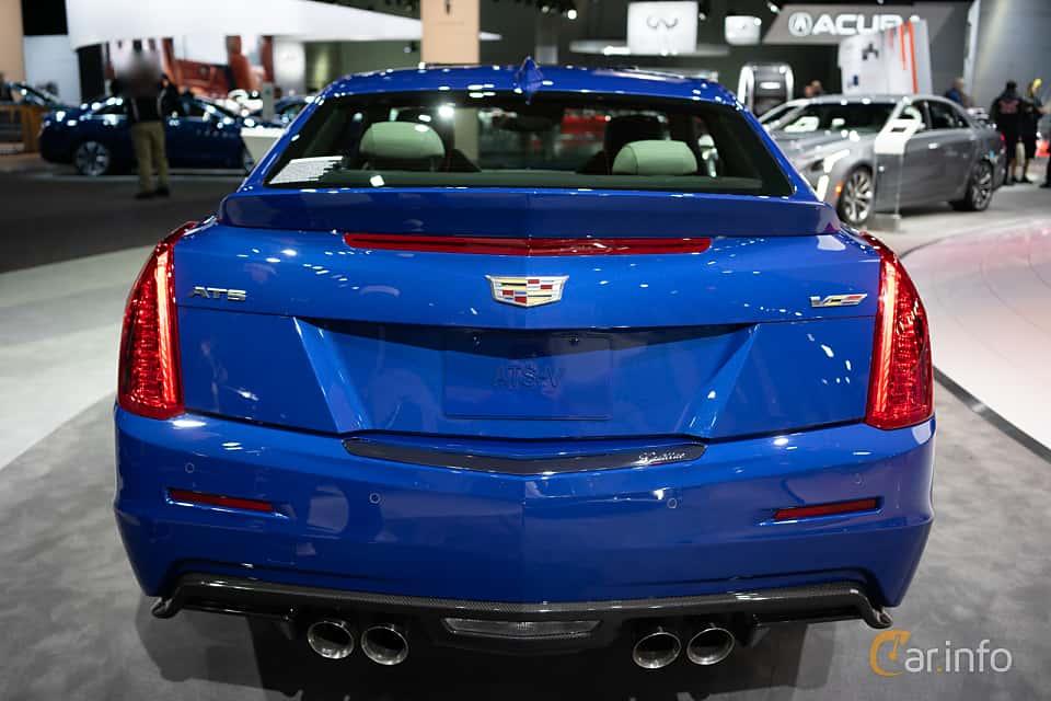 Back of Cadillac ATS-V Coupé 3.6 V6 470ps, 2019 at LA Motor Show 2018