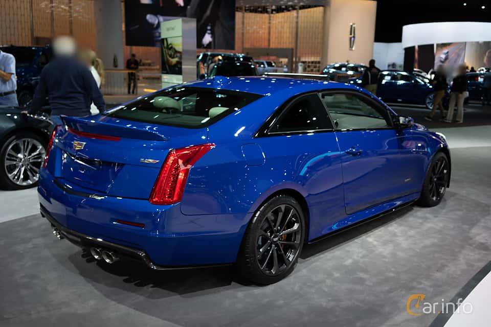 Back/Side of Cadillac ATS-V Coupé 3.6 V6 470ps, 2019 at LA Motor Show 2018