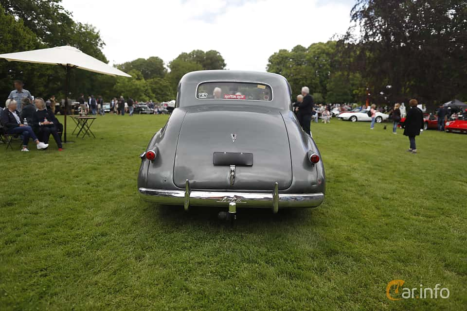Back of Cadillac LaSalle Coupé 5.3 Manual, 125ps, 1939 at Sofiero Classic 2019