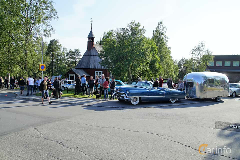 Event  of Cadillac Sixty-Two Convertible Coupé 5.4 V8 Automatic, 254ps, 1955 at Onsdagsträffar på Gammlia Umeå 2019 vecka 28