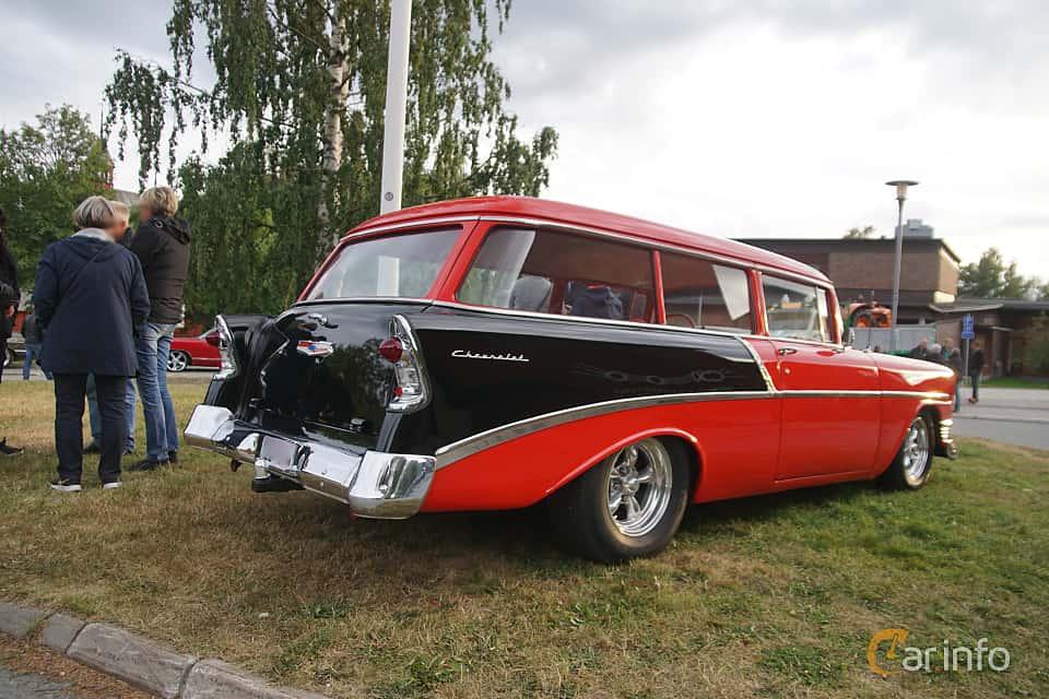 Back/Side of Chevrolet 210 Handyman 3.9 Powerglide, 142ps, 1956 at Onsdagsträffar på Gammlia Umeå 2019 vecka 32