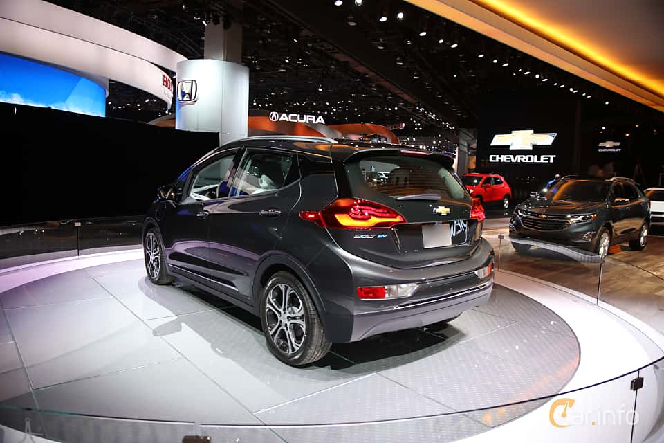 Back/Side of Chevrolet Bolt 60 kWh Single Speed, 204ps, 2017 at North American International Auto Show 2017