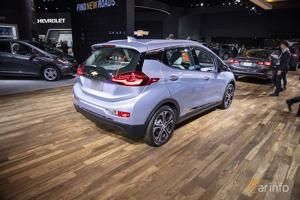 Back/Side of Chevrolet Bolt 60 kWh Single Speed, 204ps, 2017 at North American International Auto Show 2018