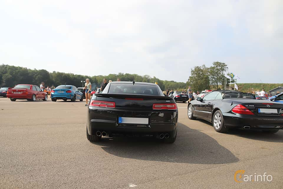 Back of Chevrolet Camaro SS 6.2 V8 Manual, 432ps, 2014 at Autoropa Racing day Knutstorp 2019