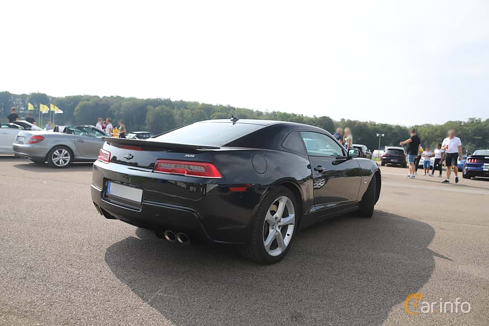 Back/Side of Chevrolet Camaro SS 6.2 V8 Manual, 432ps, 2014 at Autoropa Racing day Knutstorp 2019