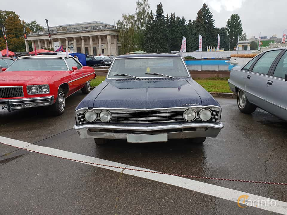 Front  of Chevrolet Chevelle 4-door Sedan 1967 at Old Car Land no.2 2018