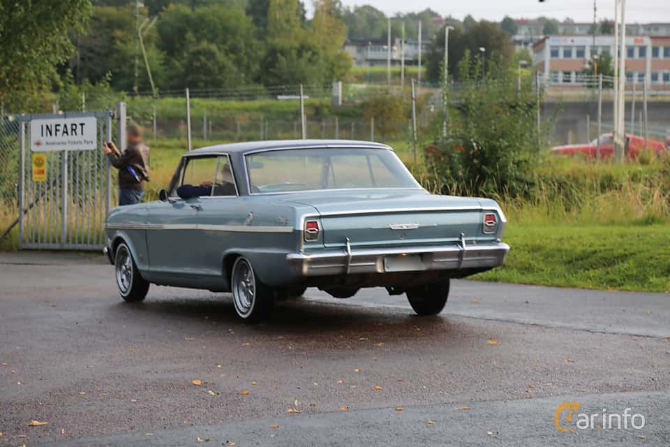 Back/Side of Chevrolet Nova Sport Coupé 3.2 Manual, 122ps, 1962 at Bil & MC-träffar i Huskvarna Folkets Park 2019 Amerikanska fordon