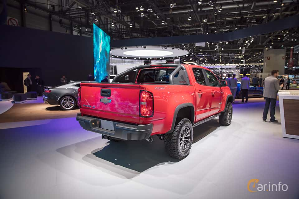 Back/Side of Chevrolet Colorado Crew Cab 3.6 V6 4WD Hydra-Matic, 313ps, 2018 at Geneva Motor Show 2017
