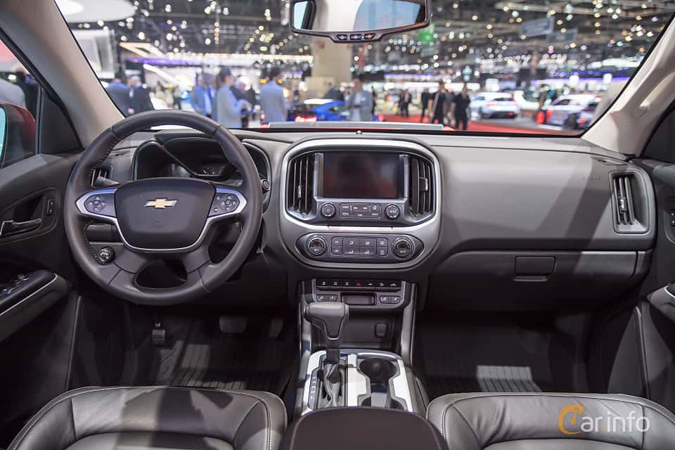 Interior of Chevrolet Colorado Crew Cab 3.6 V6 4WD Hydra-Matic, 313ps, 2018 at Geneva Motor Show 2017