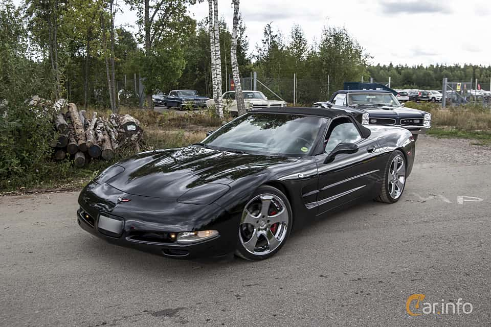 Front/Side  of Chevrolet Corvette Convertible 5.7 V8 Automatic, 350ps, 1999 at Power End of Summer Meet Emmaboda 2018