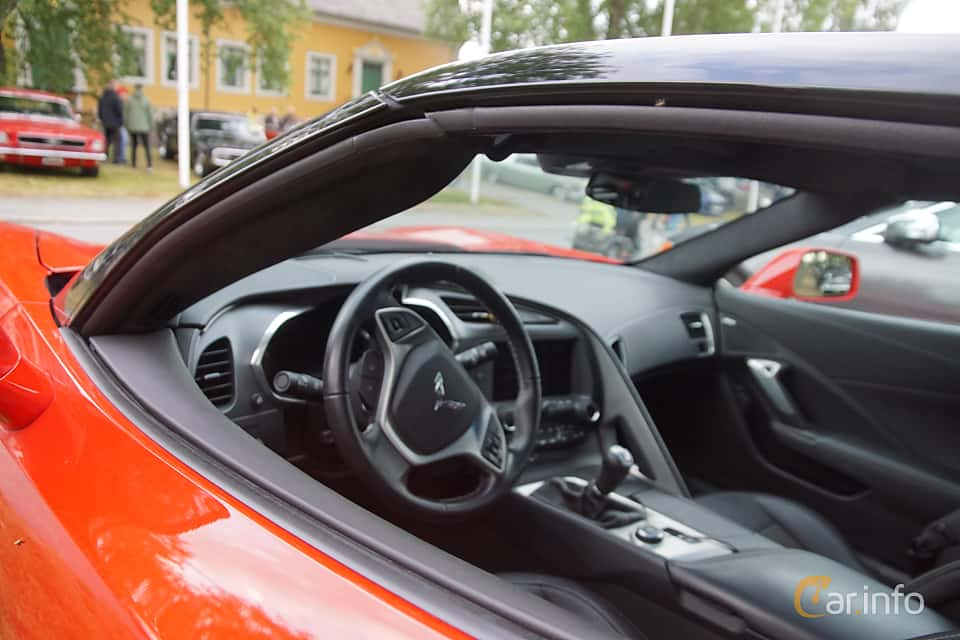 Interior of Chevrolet Corvette 6.2 V8 Manual, 466ps, 2014 at Onsdagsträffar på Gammlia Umeå 2019 vecka 32