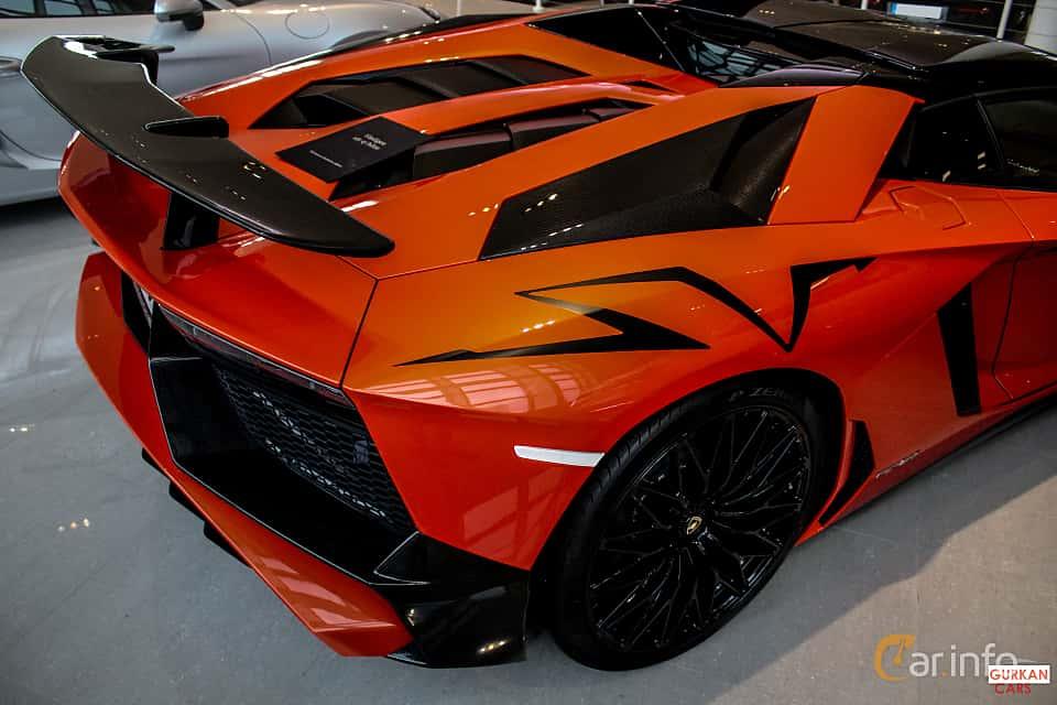 Close-up of Lamborghini Aventador LP 750-4 SV 6.5 V12 ISR, 750ps, 2017