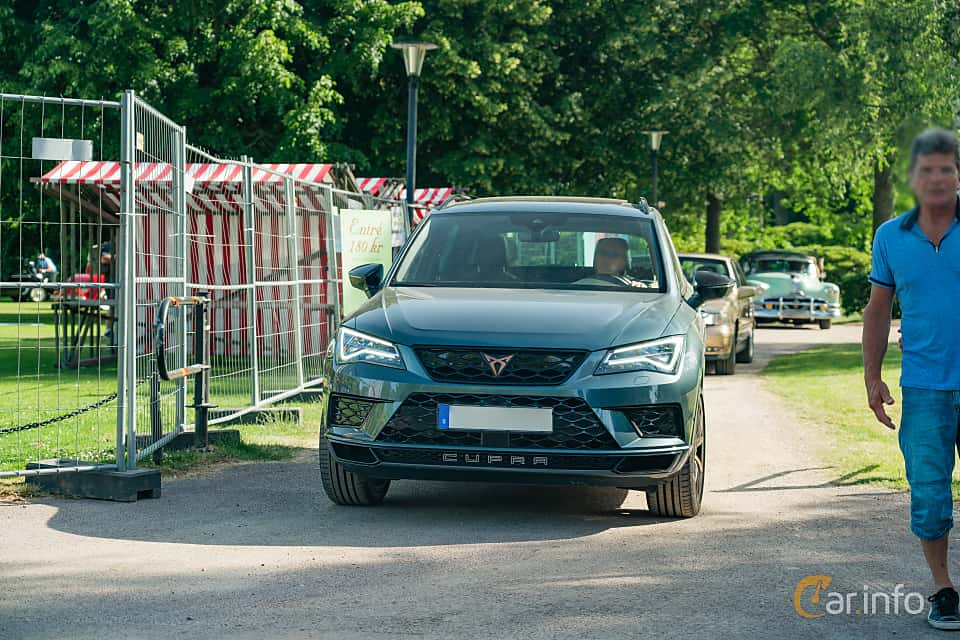 Front  of Cupra Ateca 2.0 TSI 4Drive DSG Sequential, 300ps, 2019 at Ronneby Nostalgia Festival 2019