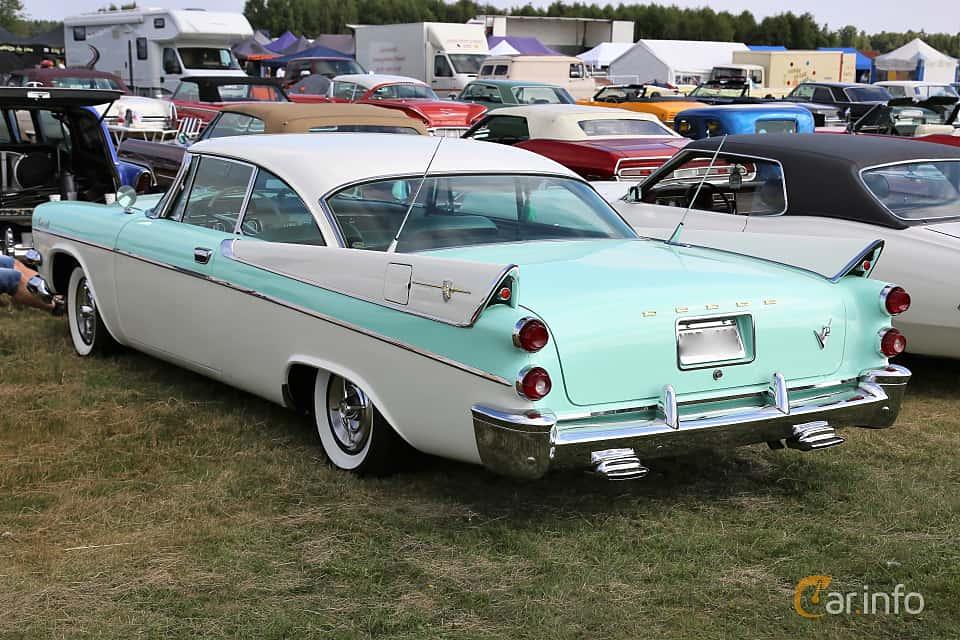 Back/Side of Dodge Coronet Lancer 2-door 5.3 V8 TorqueFlite, 314ps, 1957 at Power Big Meet 2018