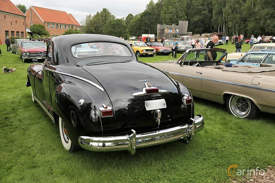Back/Side of Dodge DeLuxe Business Coupé 3.8 Manual, 102ps, 1947 at Lödöse motornostalgiska dag 2019