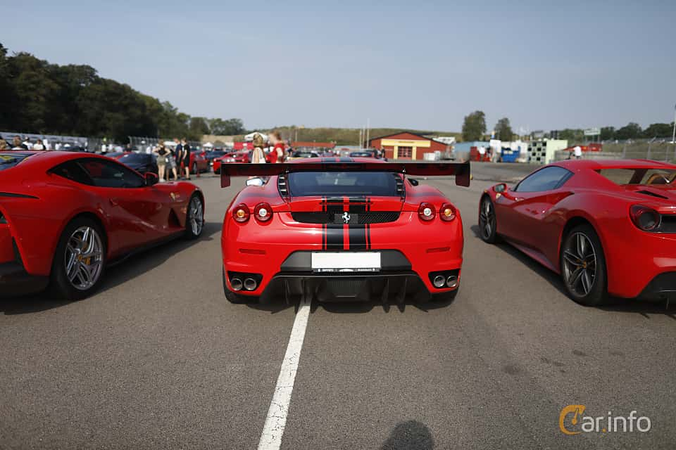 Back of Ferrari F430 4.3 V8 Sequential, 490ps, 2005 at Autoropa Racing day Knutstorp 2019