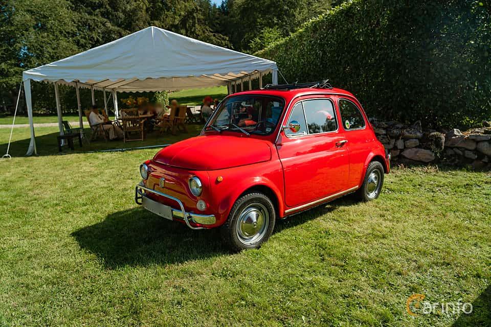 Front/Side  of Fiat 500 L 0.5 Manual, 18ps, 1969 at Sportbilsklassiker Stockamöllan 2019