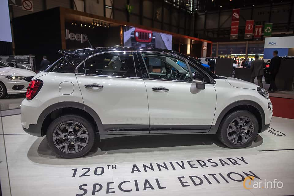 Side  of Fiat 500X 2019 at Geneva Motor Show 2019