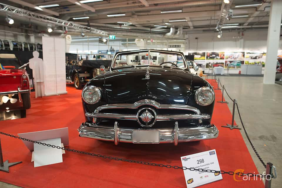 Front  of Ford Custom Convertible 3.9 V8 Manual, 102ps, 1949 at Bilsport Performance & Custom Motor Show 2018