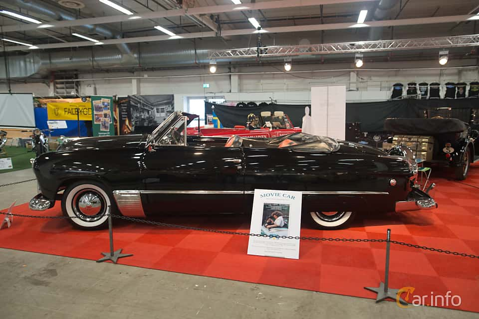 Side  of Ford Custom Convertible 3.9 V8 Manual, 102ps, 1949 at Bilsport Performance & Custom Motor Show 2018