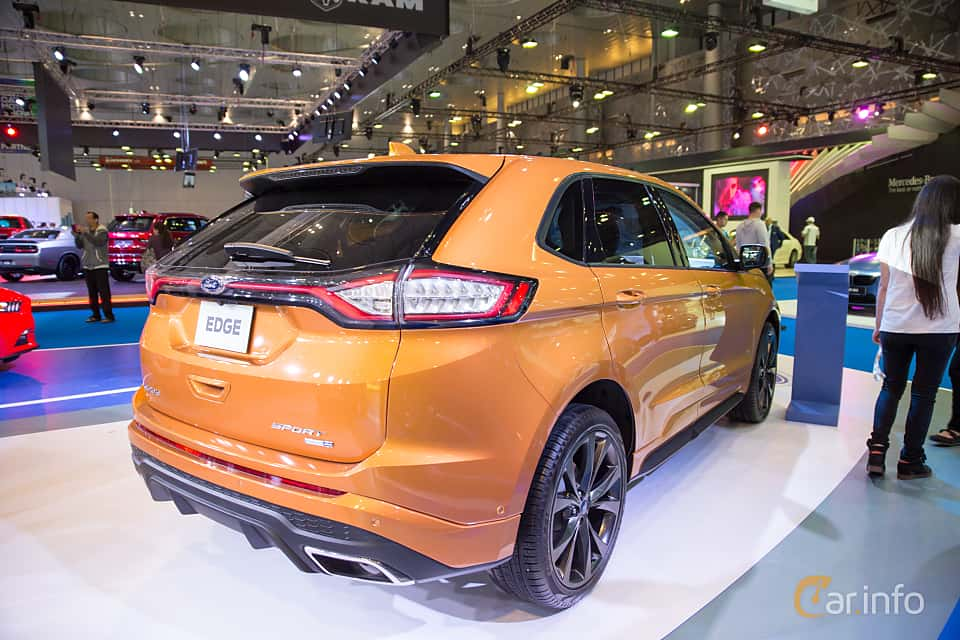 Back Side Of Ford Edge  At Qatar Motorshow
