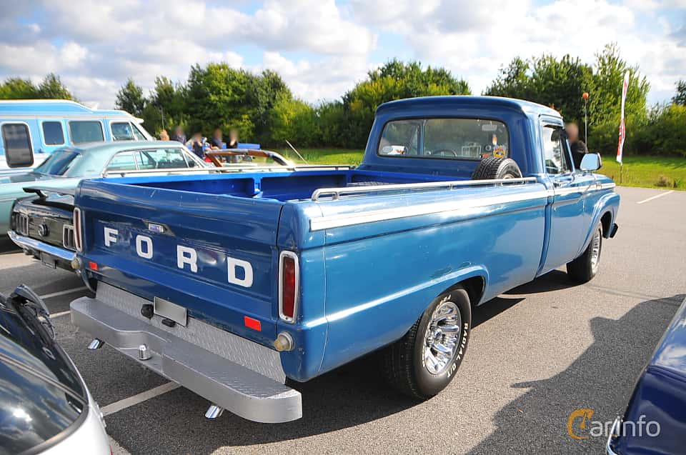 Back/Side of Ford F Regular Cab 4.3 Manual, 1964 at Biltema Gatbilar Lund 2018