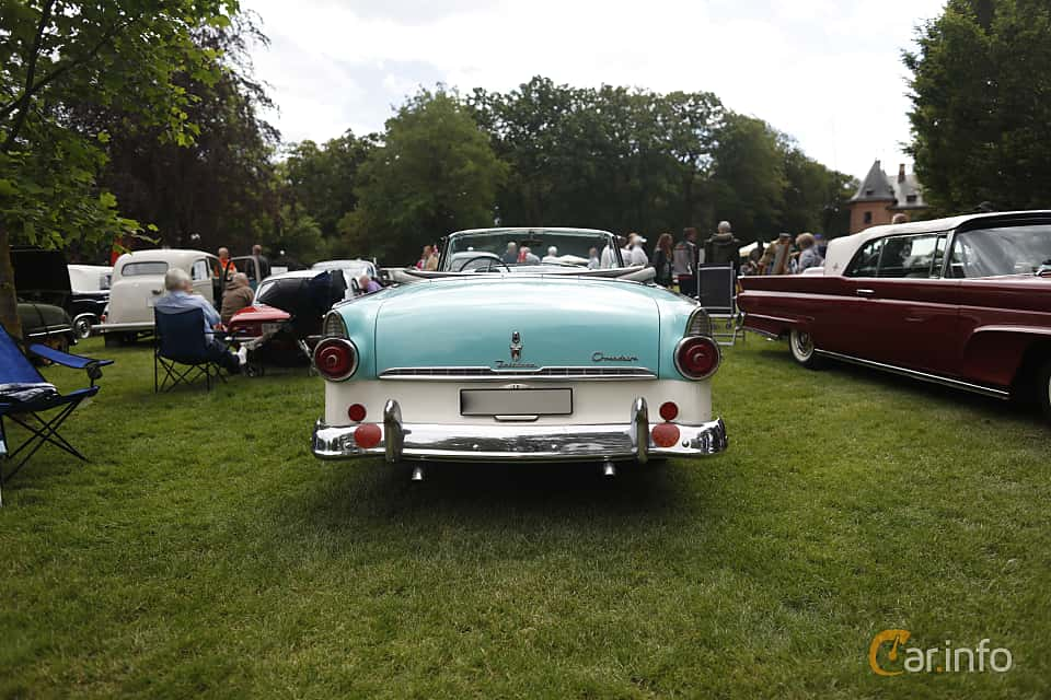 Back of Ford Fairlane Sunliner 4.5 V8 Manual, 165ps, 1955 at Sofiero Classic 2019