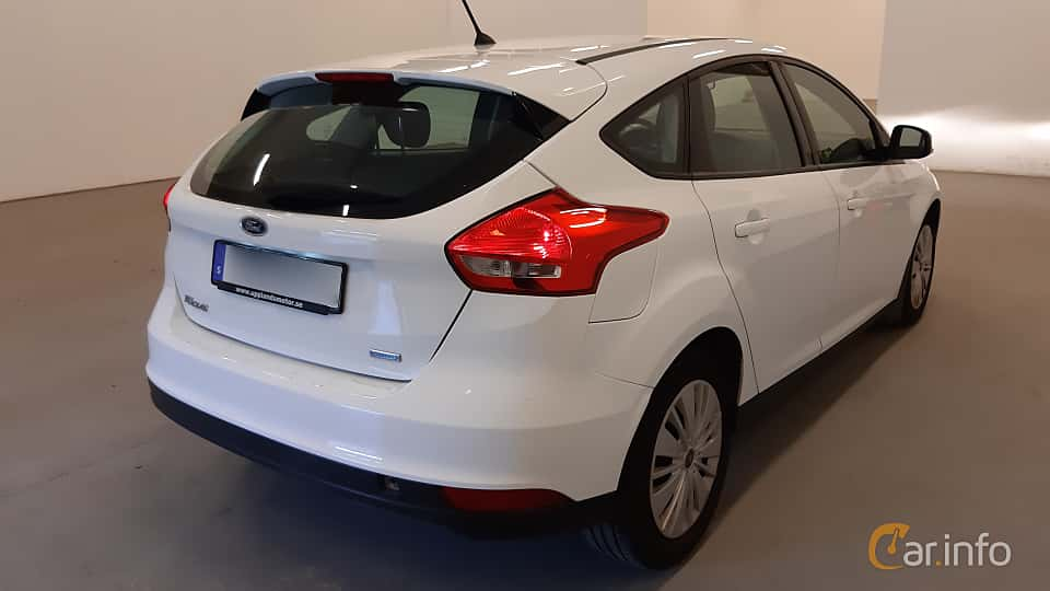 Back/Side of Ford Focus 1.0 EcoBoost Manual, 100ps, 2016