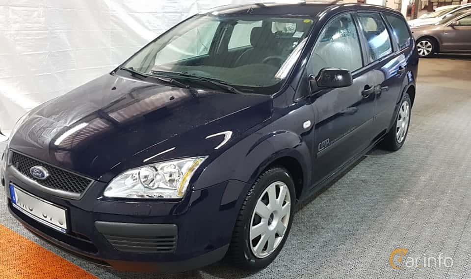 Fram/Sida av Ford Focus Combi 1.8 Duratec Flexifuel Manual, 125ps, 2006