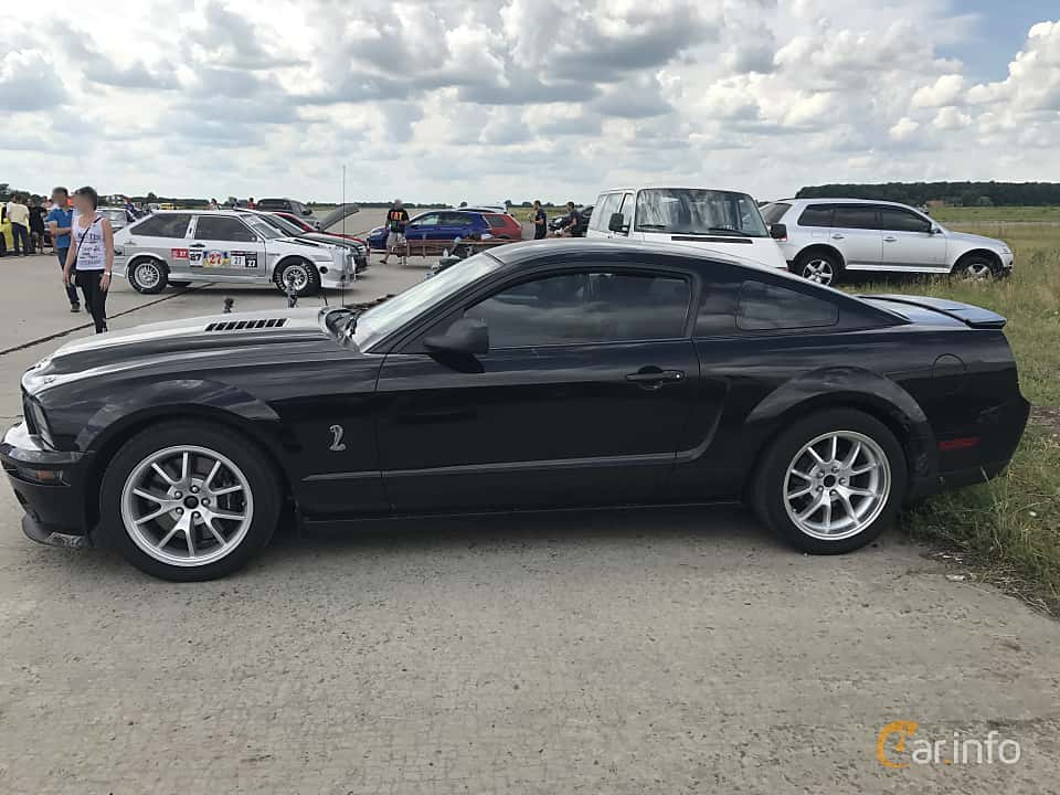 Side of Ford Shelby Mustang GT500 5.4 V8 475ps, 2005 at Ukrainian Drag Series Stage 1 2017