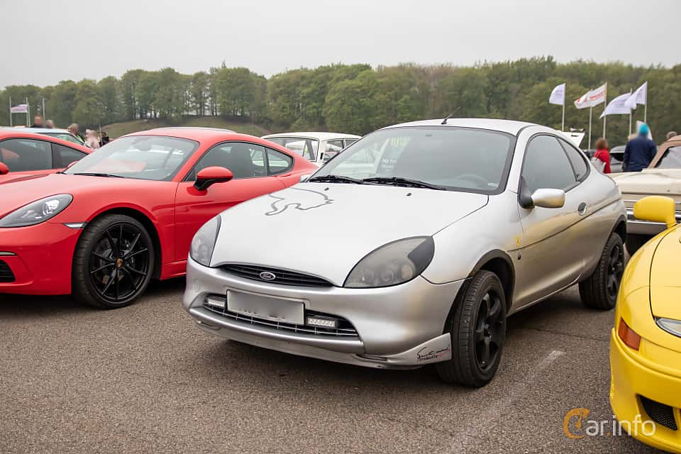 Front/Side  of Ford Puma 1.7 Manual, 125ps, 1999 at Lucys motorfest 2019