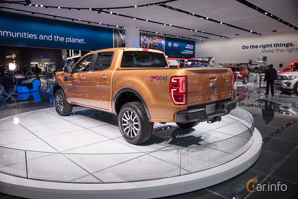 Back/Side of Ford Ranger SuperCrew 2.3 EcoBoost 4x4 Automatic, 274ps, 2019 at North American International Auto Show 2018