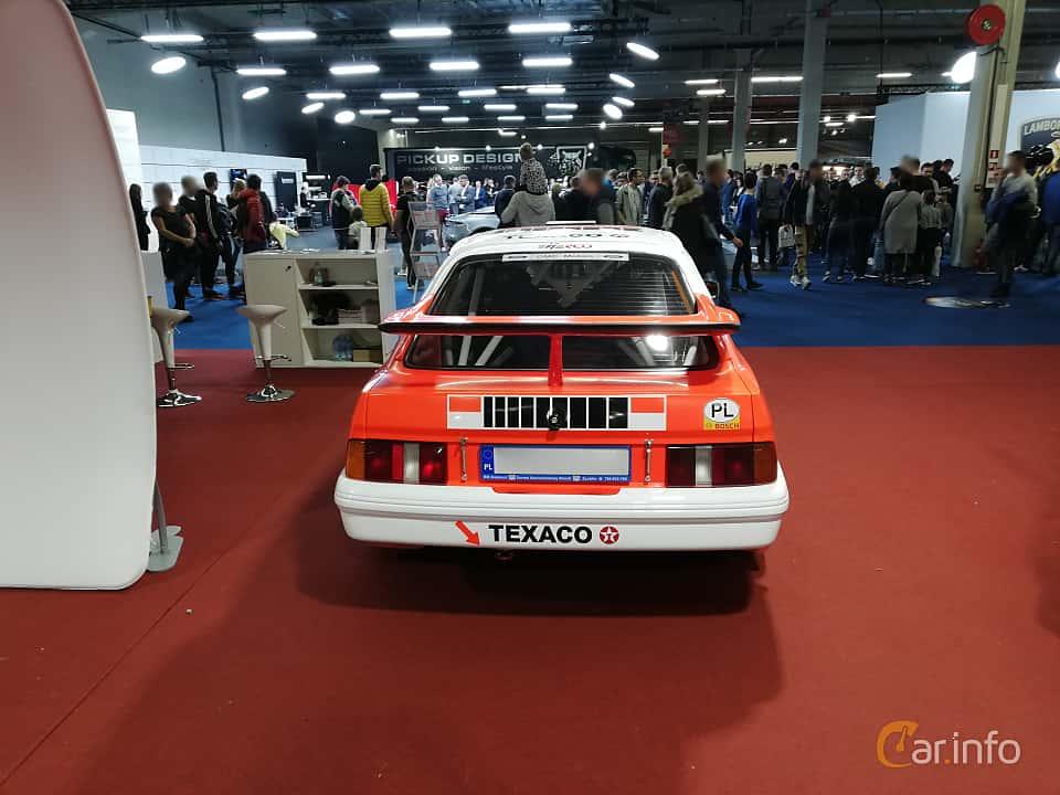 Back of Ford Sierra RS Cosworth 3-door 2.0 Manual, 204ps, 1986 at Warsawa Motorshow 2018