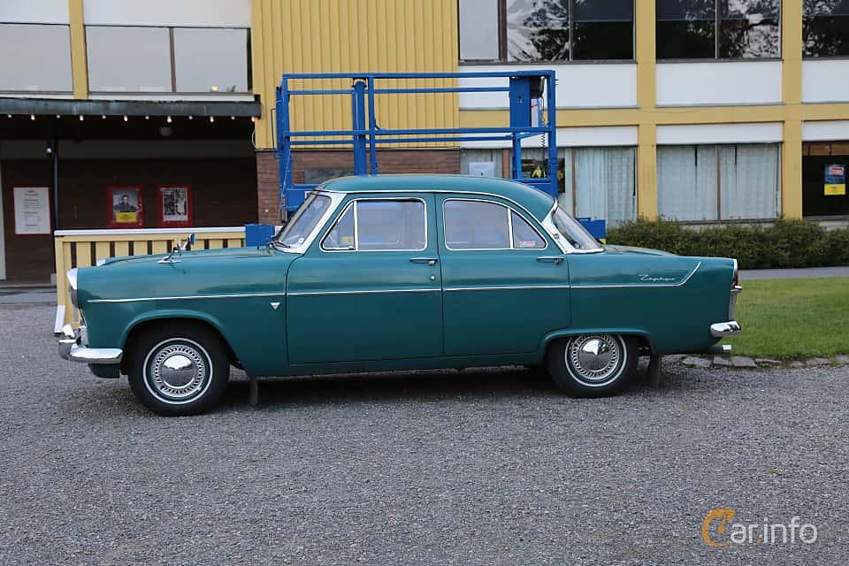 Side  of Ford Zephyr 2.6 Manual, 90ps, 1956 at Bil & MC-träffar i Huskvarna Folkets Park 2019 Amerikanska fordon