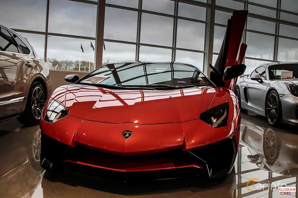 Fram av Lamborghini Aventador LP 750-4 SV 6.5 V12 ISR, 750ps, 2017