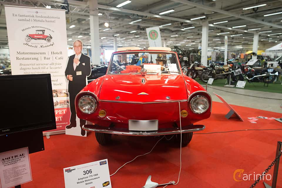 Front  of Amphicar Amphicar 1.1 Manual, 39ps, 1968 at Bilsport Performance & Custom Motor Show 2018