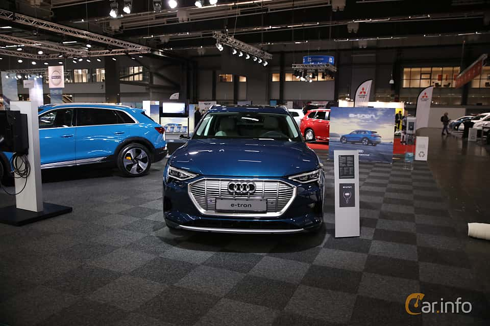 Front  of Audi e-tron 55 quattro  Single Speed, 408ps, 2019 at eCar Expo Göteborg 2018