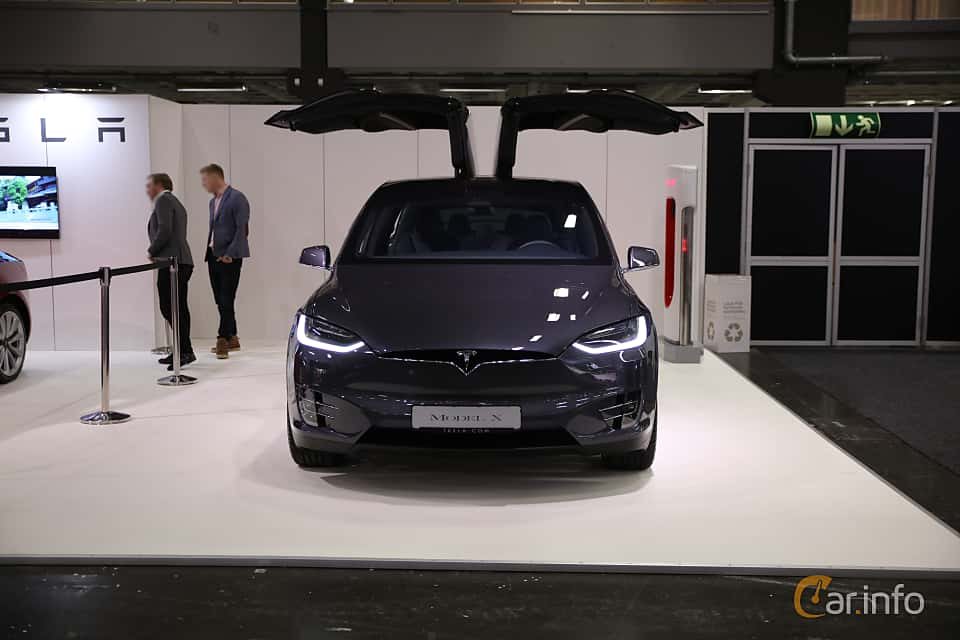 Front  of Tesla Model X 100D 100 kWh AWD Single Speed, 423ps, 2018 at eCar Expo Göteborg 2018