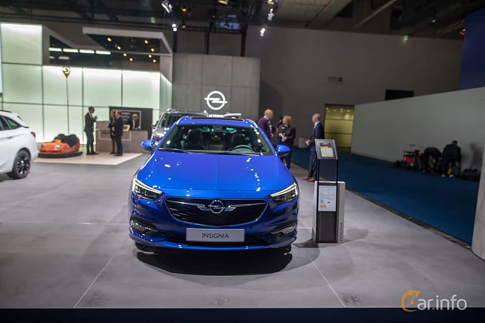 Front  of Opel Insignia Sports Tourer 1.5 Turbo Automatic, 165ps, 2020 at IAA 2019