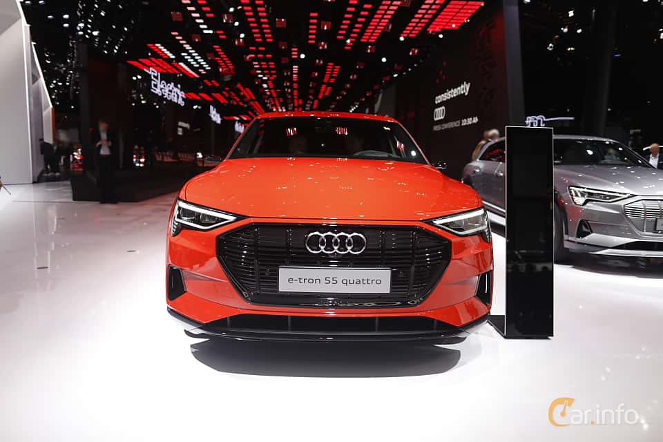 Front  of Audi e-tron 55 quattro  Single Speed, 408ps, 2020 at IAA 2019