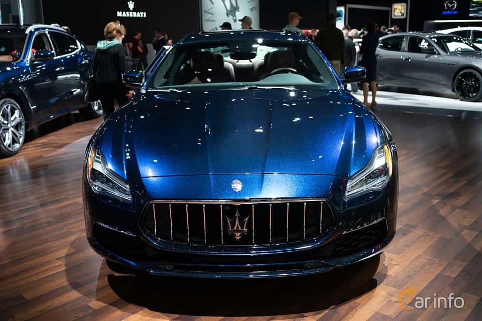 Front  of Maserati Quattroporte S Q4 3.0 V6 Q4 Automatic, 430ps, 2019 at LA Motor Show 2018