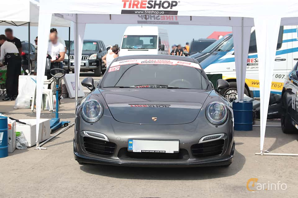 Front  of Porsche 911 Turbo 3.8 H6 4 PDK, 520ps, 2013 at Proudrs Drag racing Poltava 2019