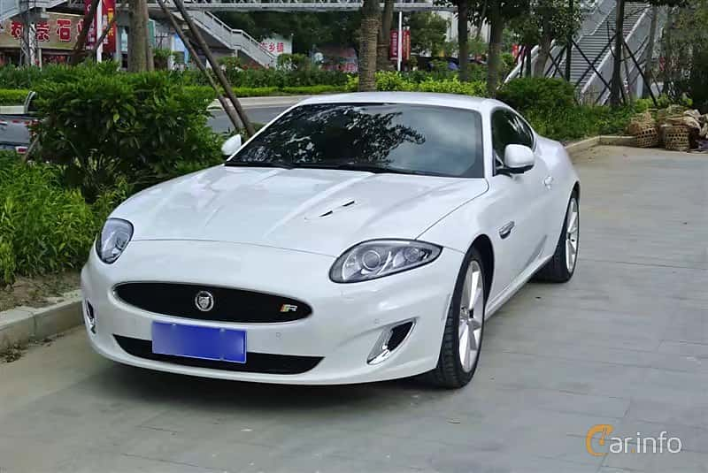Front/Side of Jaguar XKR 5.0 V8 Automatic, 510ps, 2012