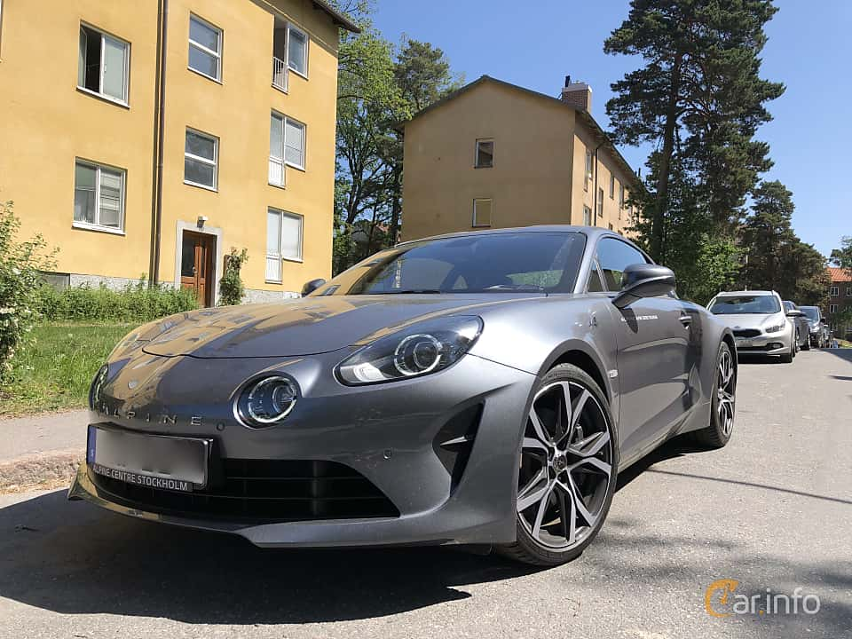 Front/Side  of Alpine A110 1.8 TCe EDC, 252ps, 2018